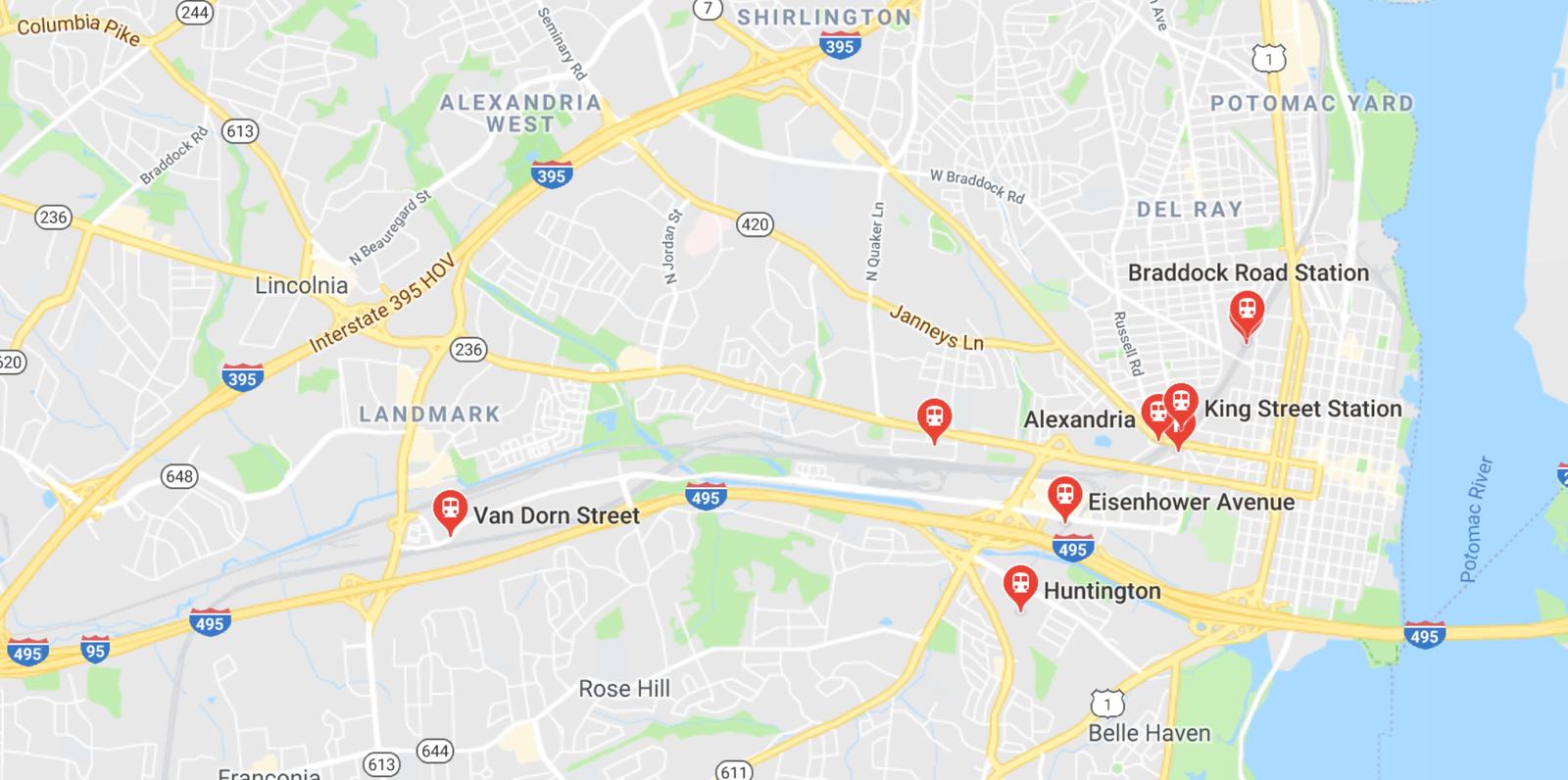 Alexandria map of metro stations