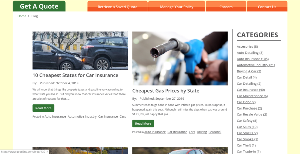 good2go insurance blog page