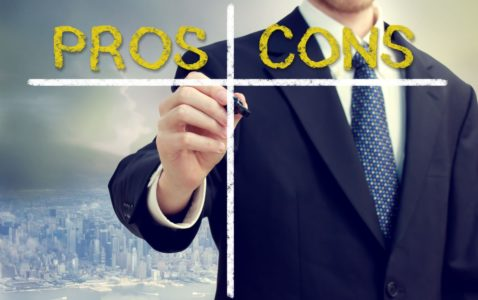 Pros and Cons chart