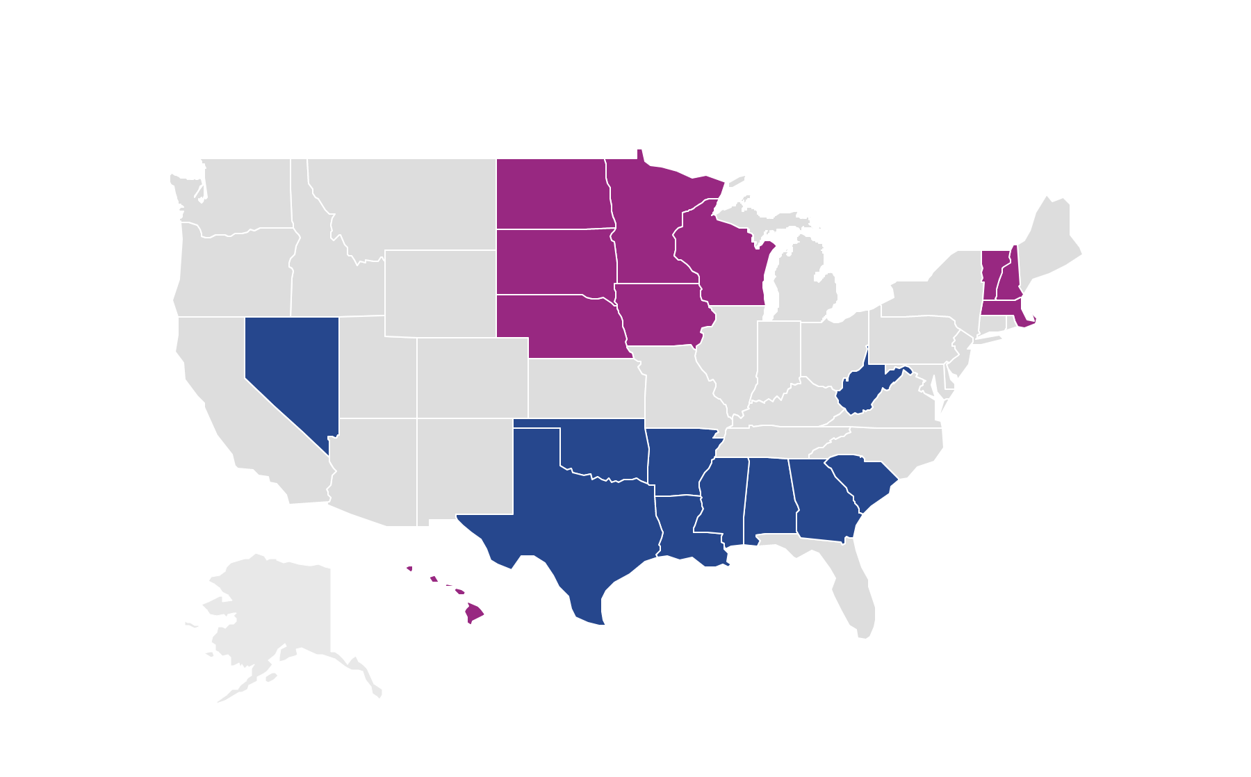Vantage score by states