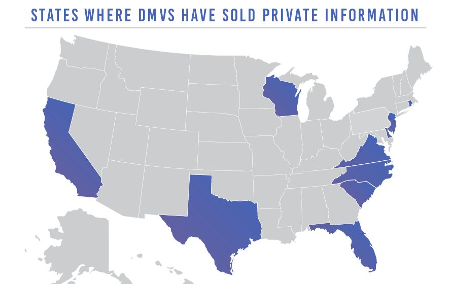 States with DMVs selling private information