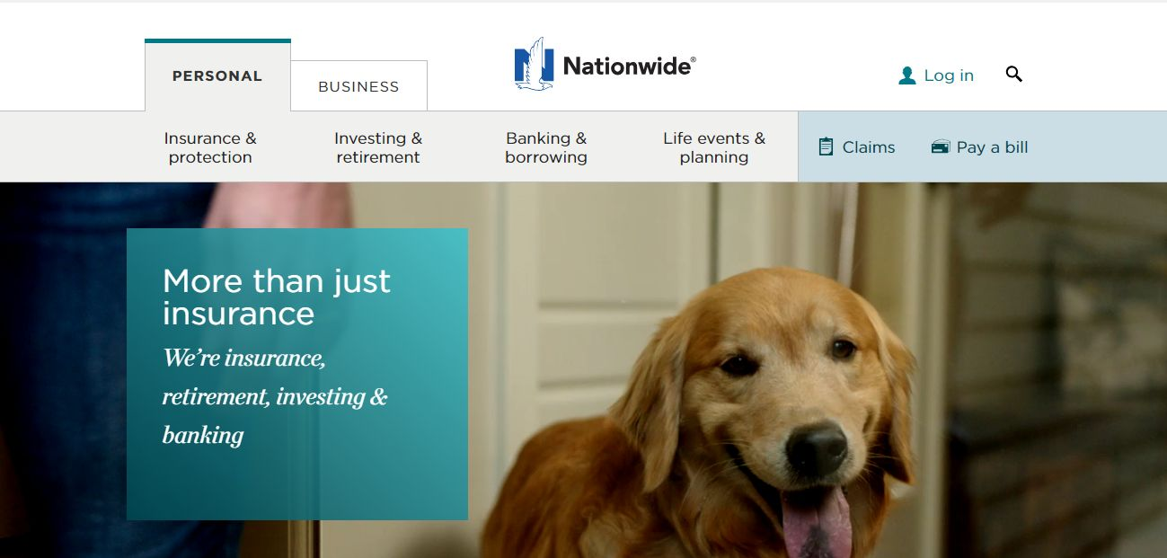 Nationwide Auto Insurance home page
