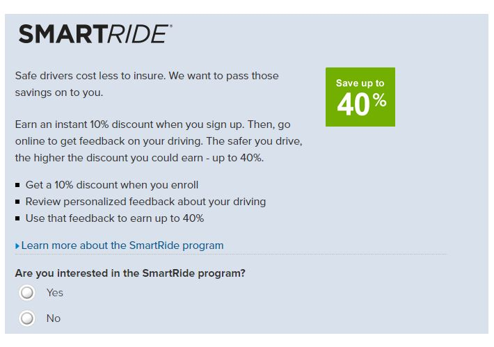 Nationwide Auto Insurance quote SmartRide