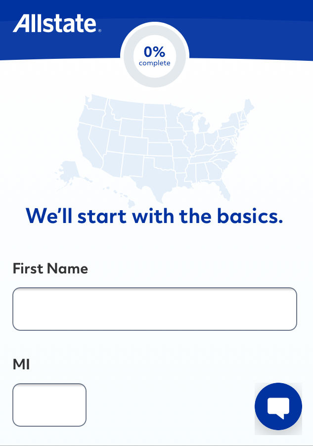 Allstate quote personal information