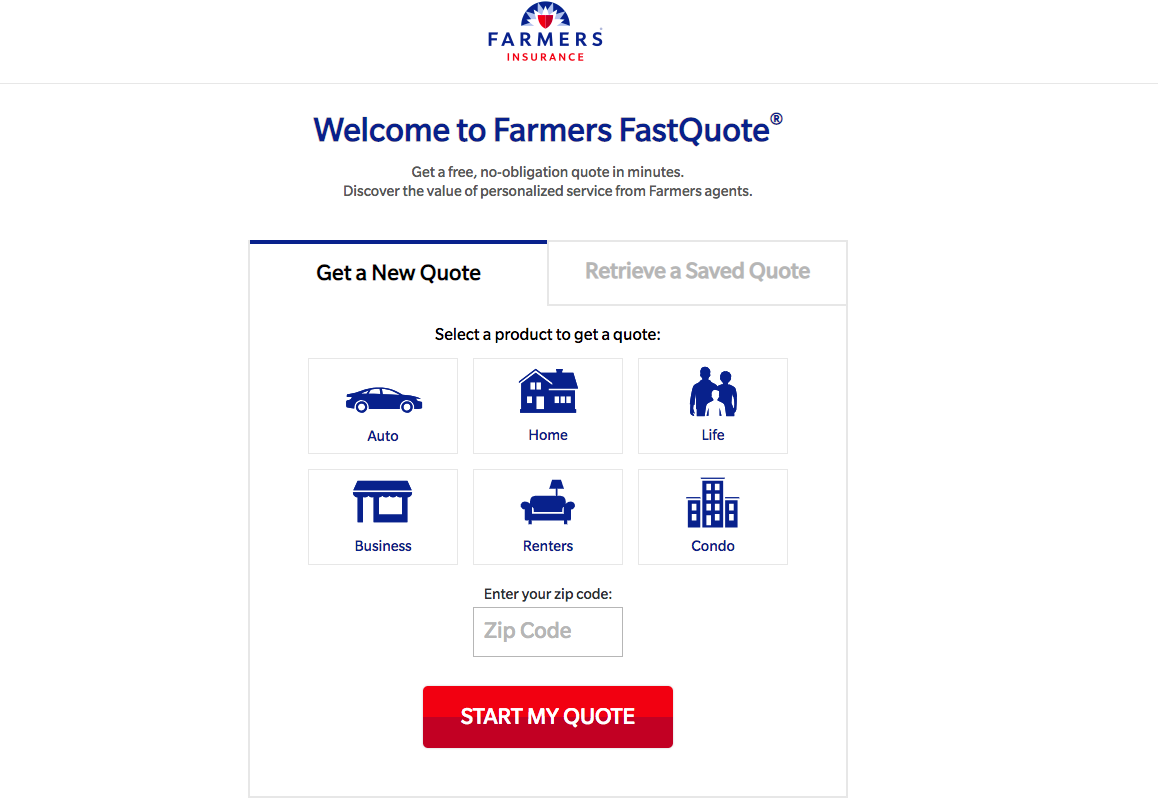 farmers quote page