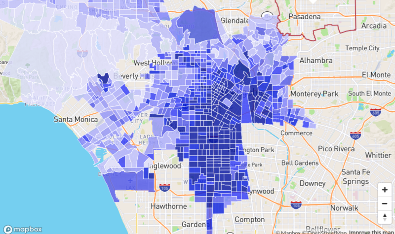 Los Angeles Crime Map from Neighborhood Scout
