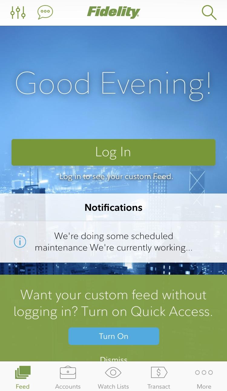 Fidelity App Landing