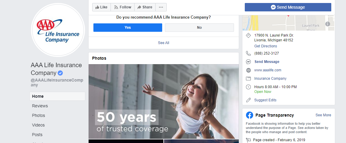 AAA Life on Facebook
