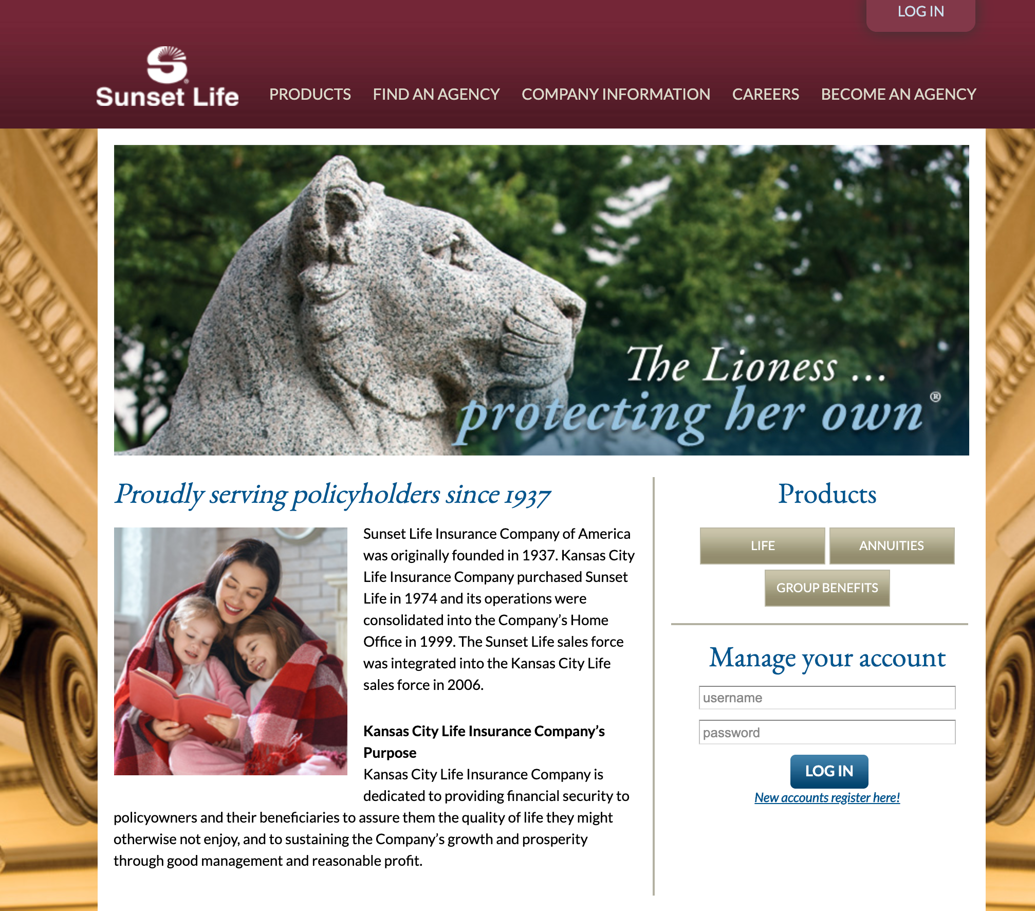 Sunset Life Financial Co Home Page