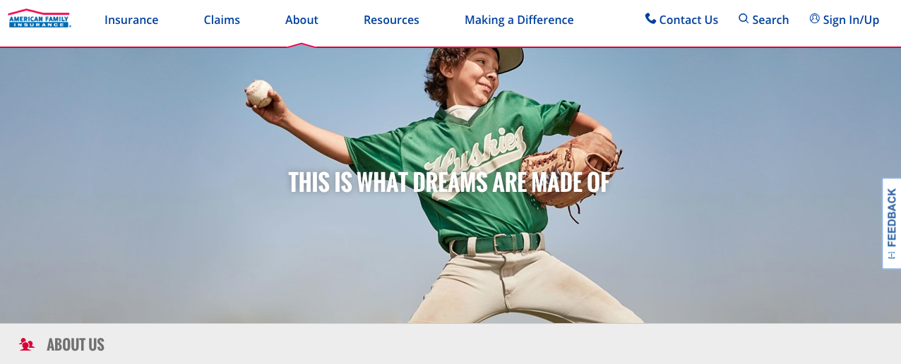 American Family Insurance White Text On Image