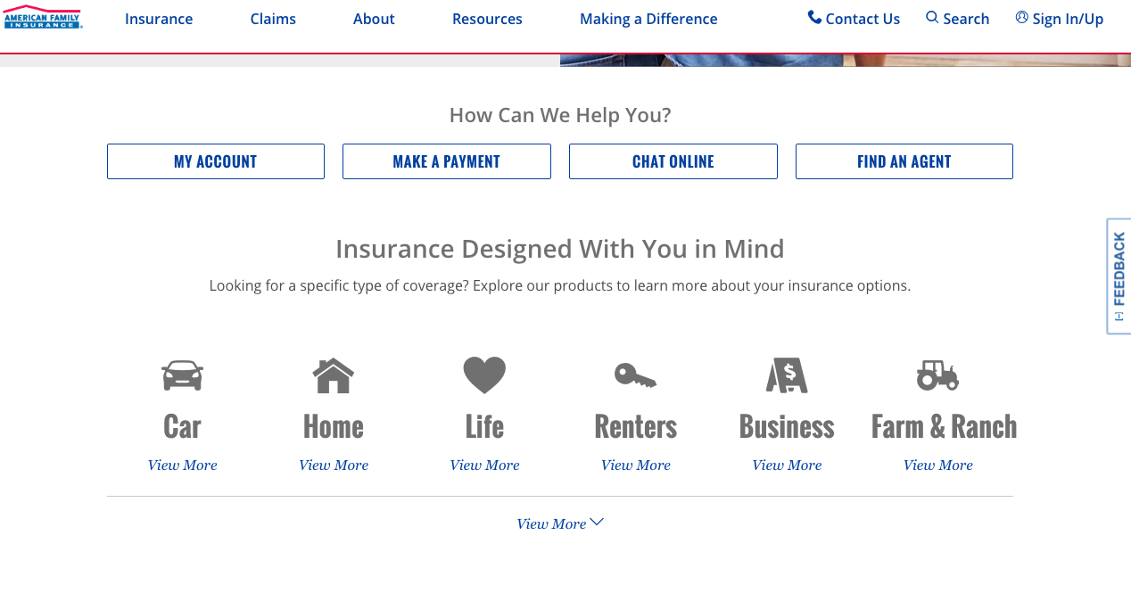 American Family Insurance Home Pag