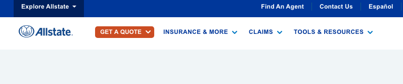 Allstate get a quote button highlight