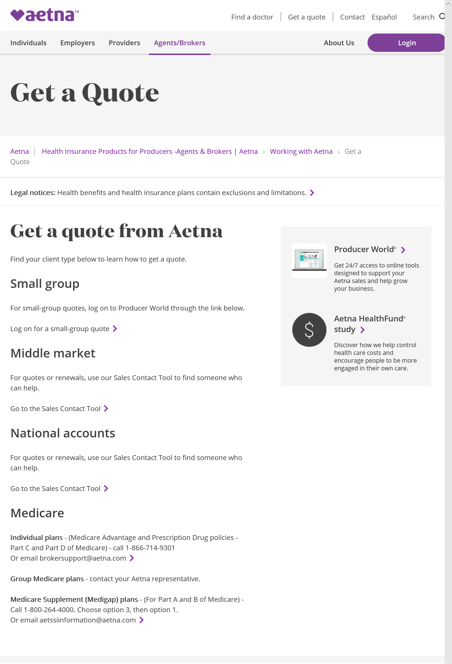 How to Obtain a Quote from Aetna