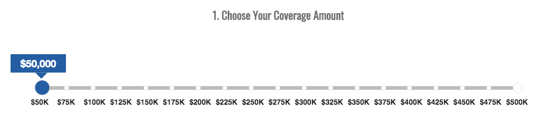 American Family Insurance Term Coverage Adjustment Slider