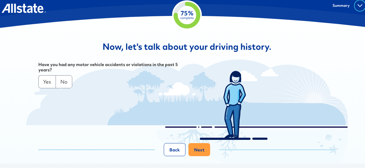 Allstate driving history questionnaire