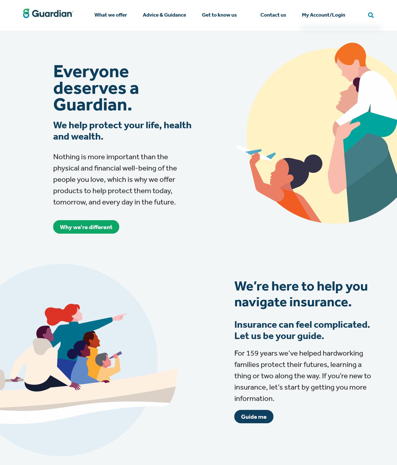 Guardian Life Homepage