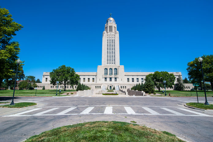 Nebraska State Capitol, Lincoln, Nebraska, United States of America, North America