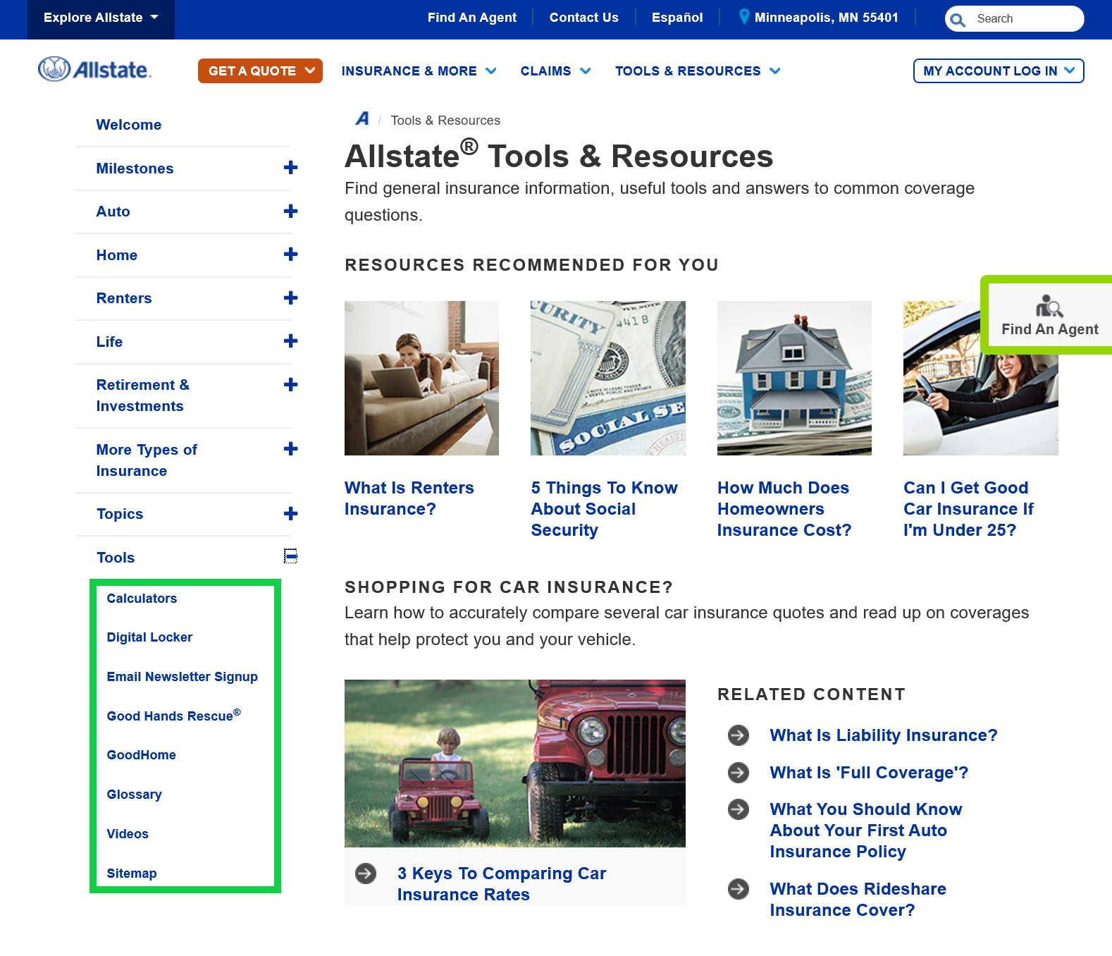 Allstate's Tools and Resources 4