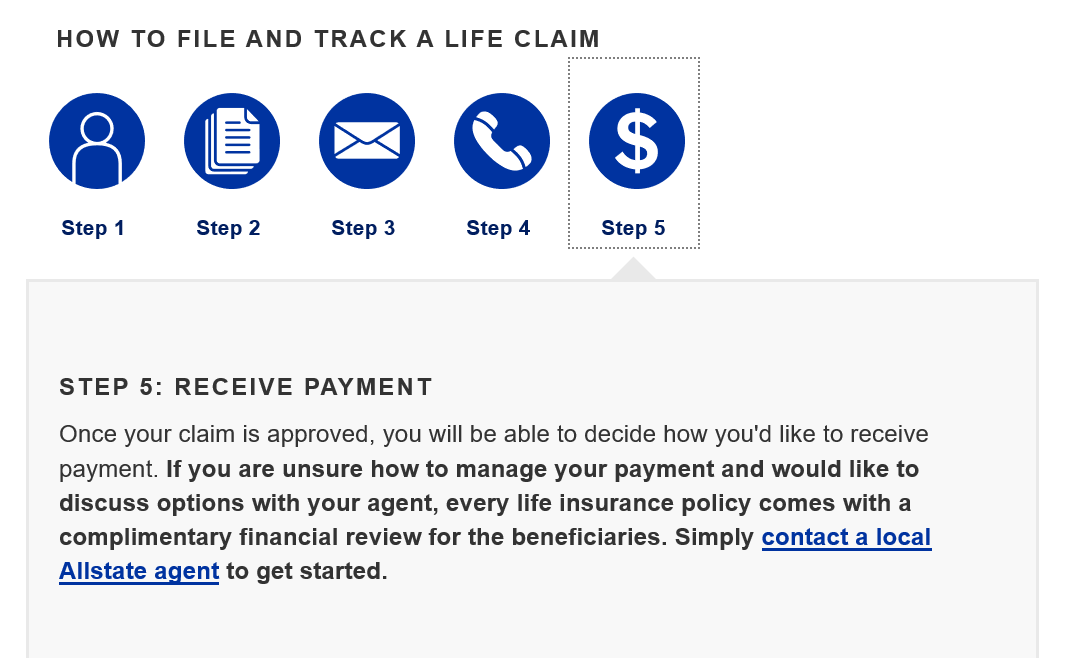 Allstate Make a Claim Step 5