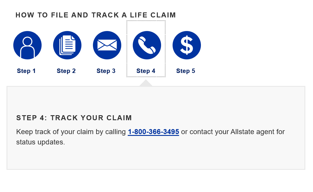 Allstate Make a Claim Step 4