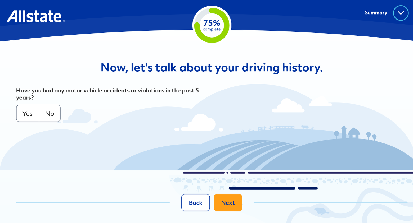 Allstate Get a Quote Driving History
