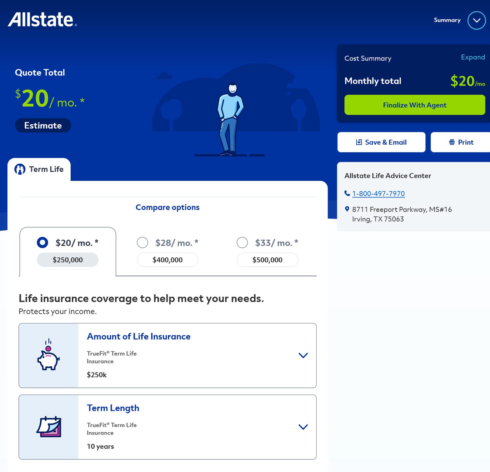 Allstate Get a Quote Results