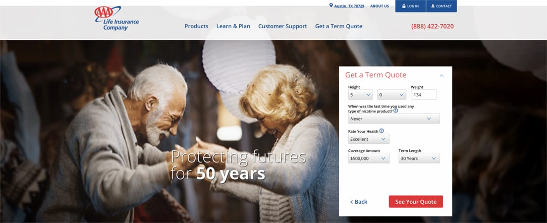 AAA Life Insurance Quote Health Information