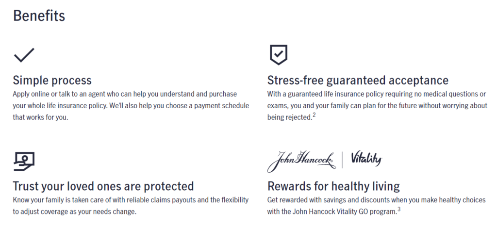 John Hancock Life Insurance Website Final Expense Life Insurance Benefits