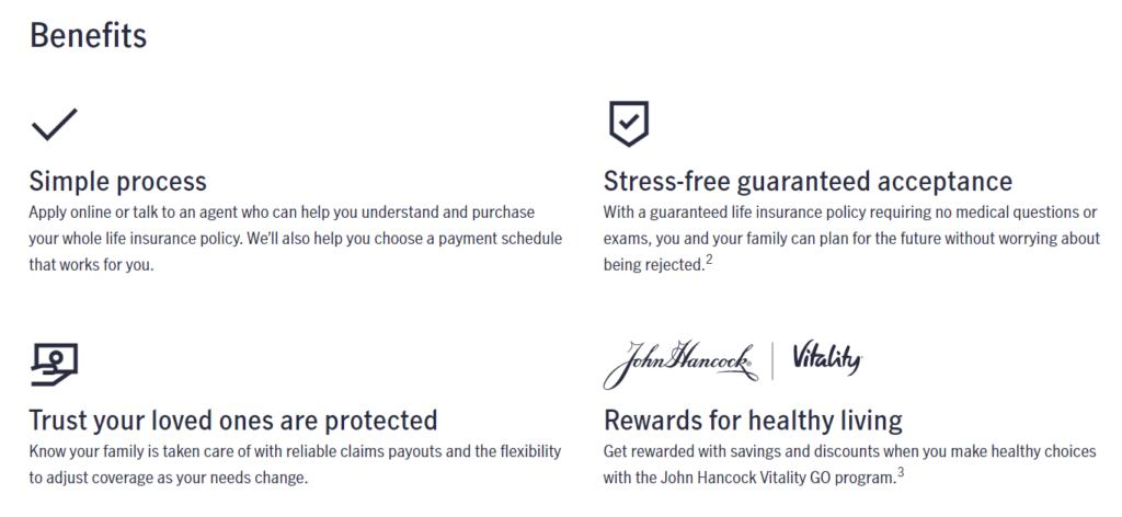 John Hancock Life Insurance Website Final Expense Life Insurance Benefits
