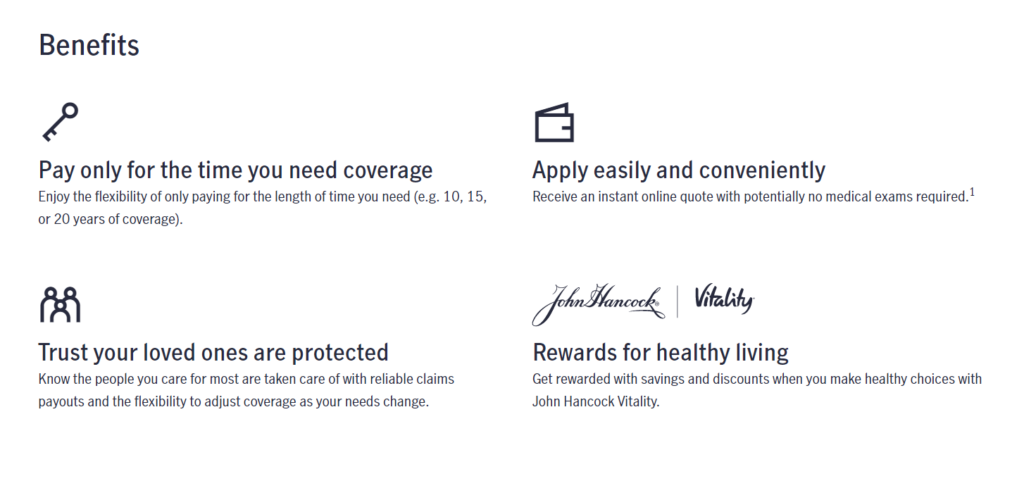 John Hancock Life Insurance Website Term Life Insurance Benefits