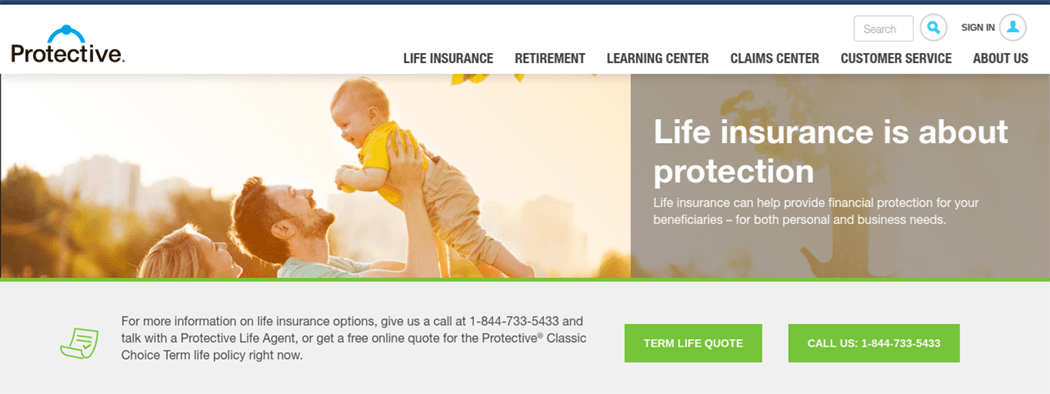 Protective Life Insurance Website Term Life Quote