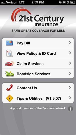 21st Century Mobile App Menu