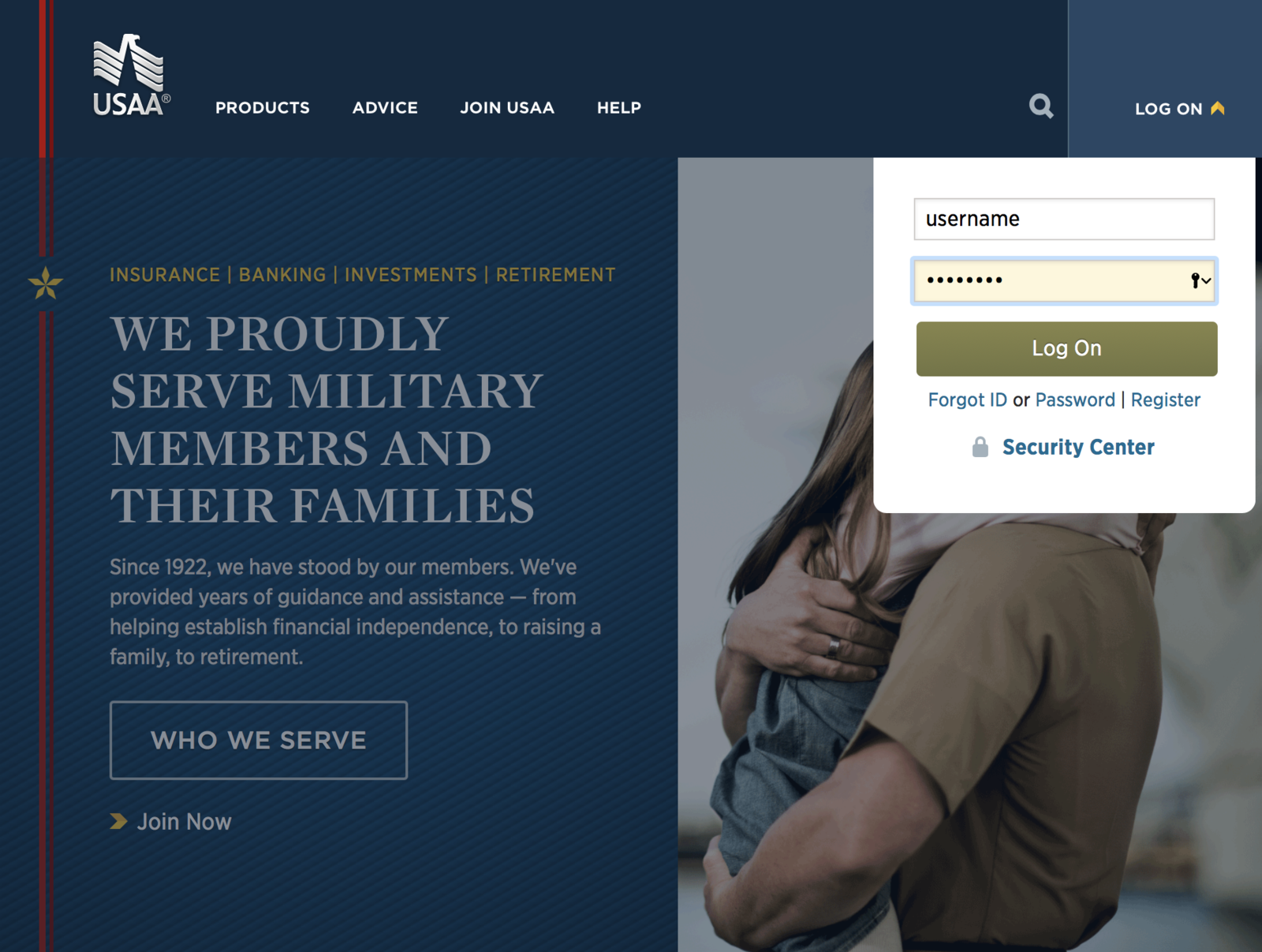 Login for members USAA
