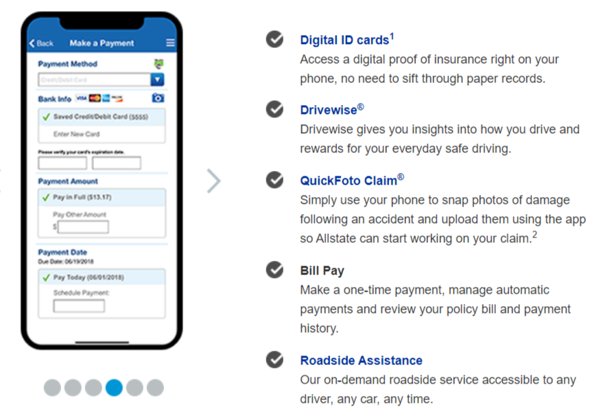 Allstate Home Insurance Mobile app