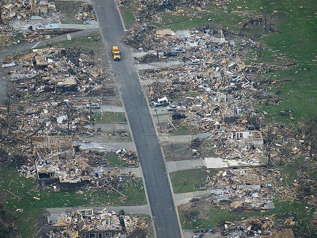 Destruction following Joplin tornado of 2011.