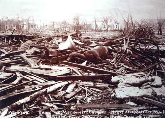 new richmond wisconsin tornado 1899 damage