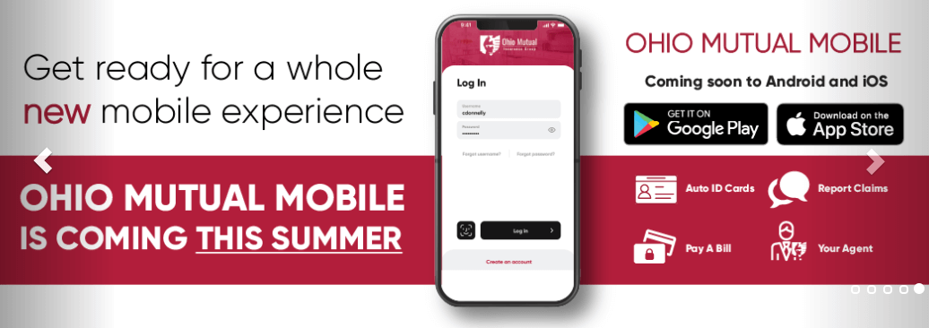 Ohio Mutual Insurance Agency Mobile App Summer 2020