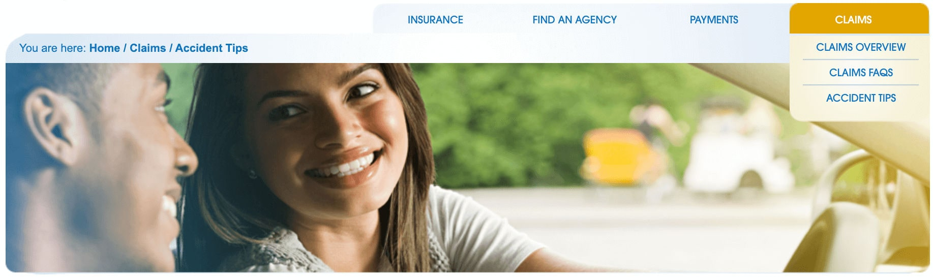 Safeway Insurance Online Claims Page