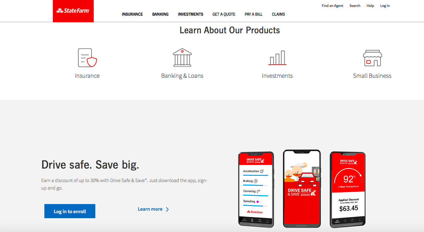 home page state farm website