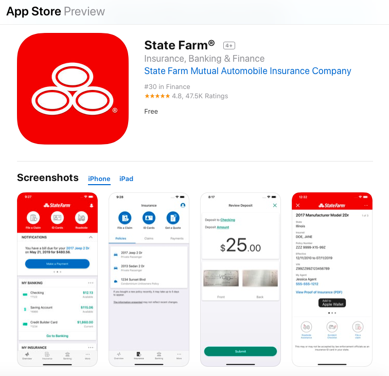 app store state farm