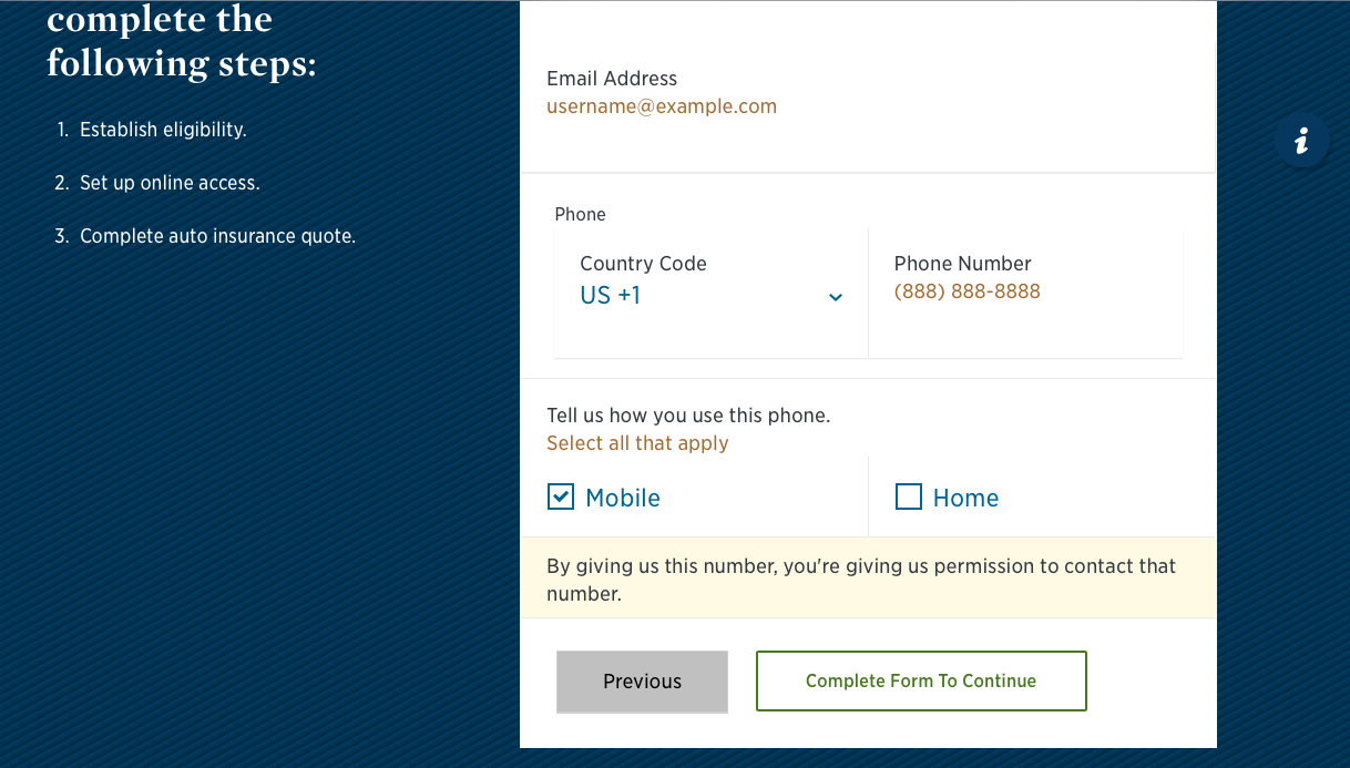 usaa complete contact information