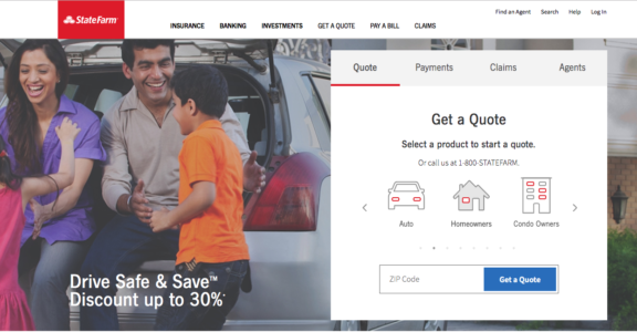 State Farm Quote Home Page