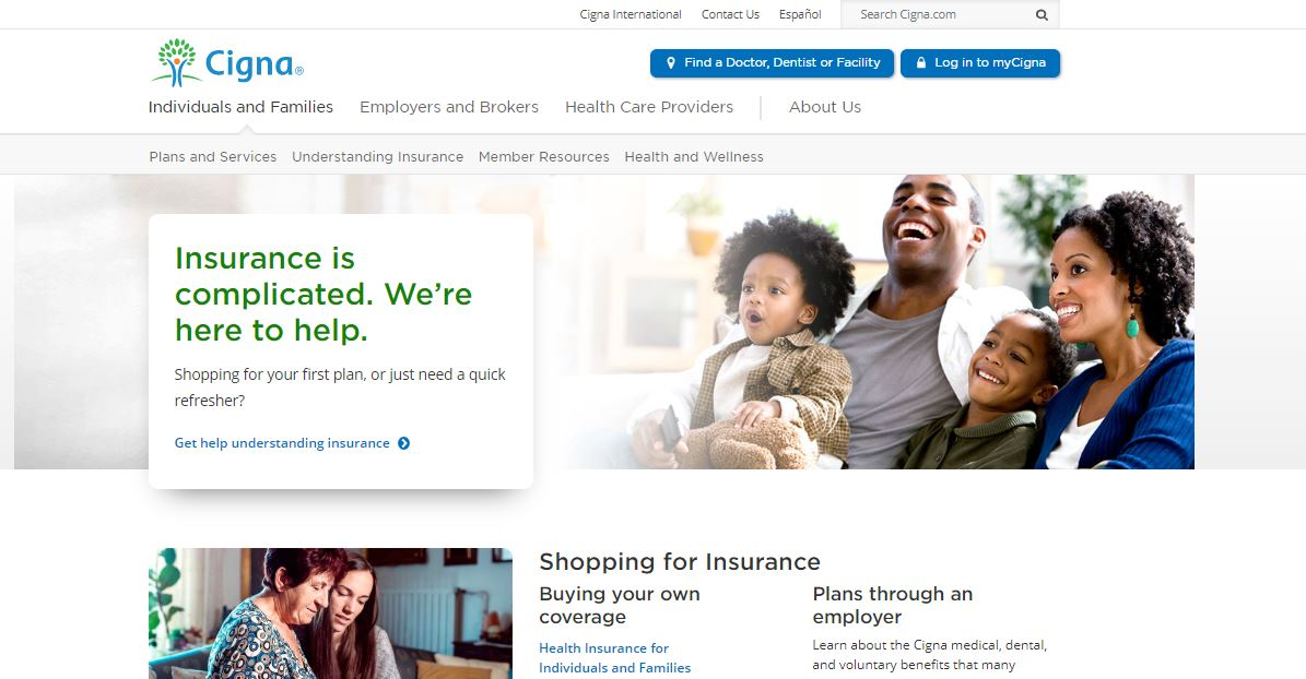 Cigna Online Quote Step 1