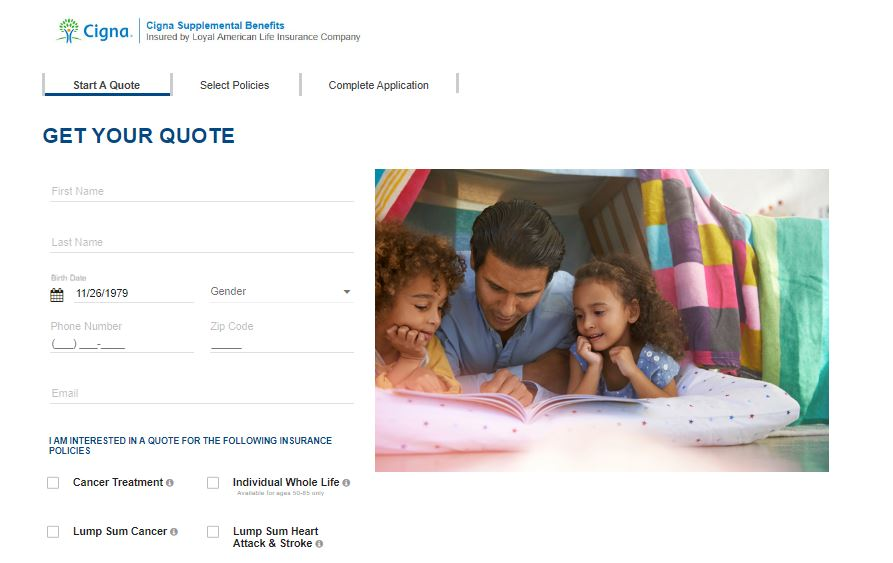 Cigna Online Quote Step 4