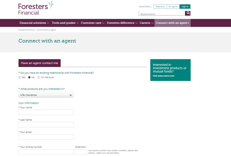 Foresters Agent Finder