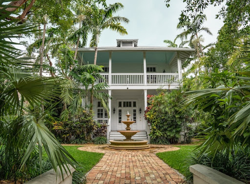 gorgeous home and landscaping in Key West, Florida USA