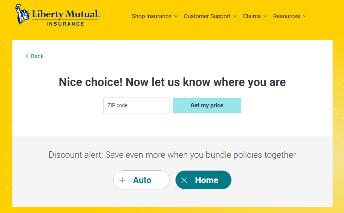 Liberty Mutual Home Insurance Online Quote Instructions Zip Code