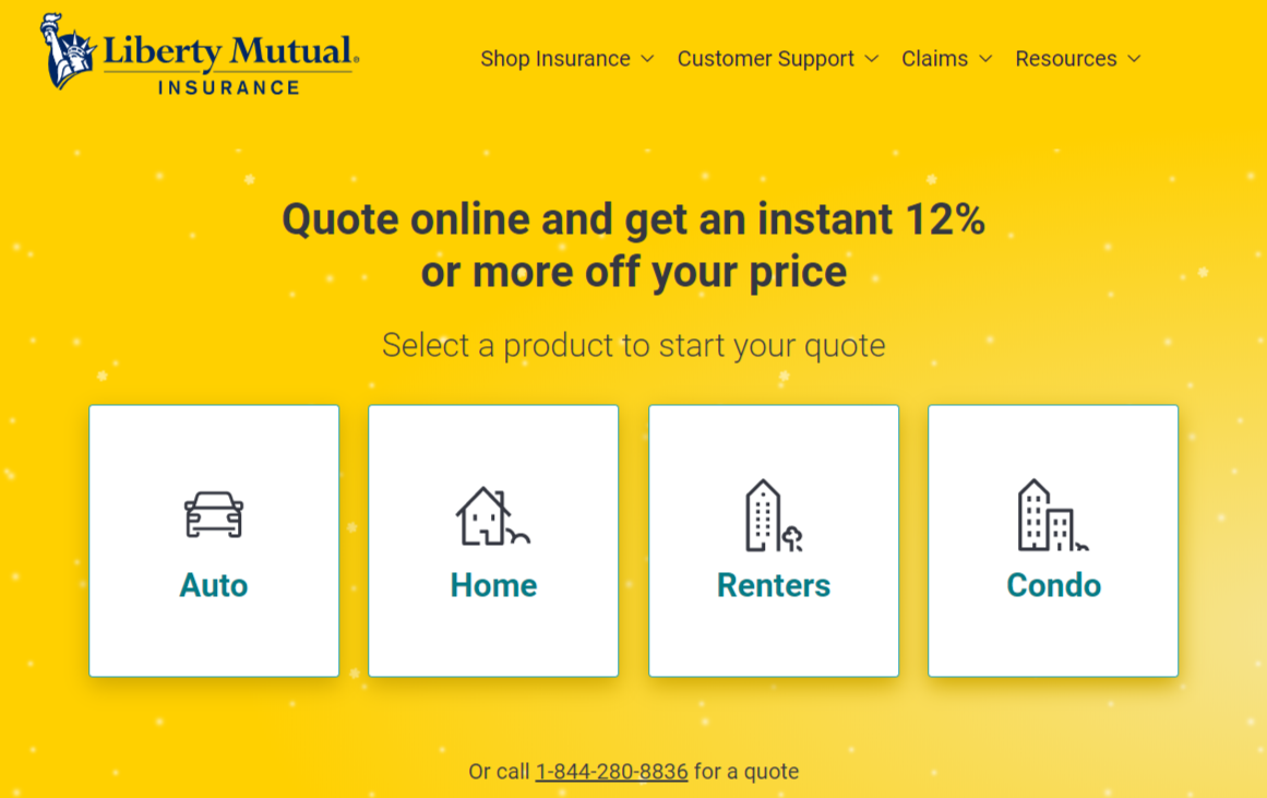 Liberty Mutual Home Insurance Online Quote Instructions Home Screen