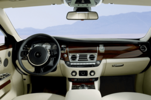 inside of a luxury car