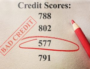 while checking your credit score you discovered you have bad credit